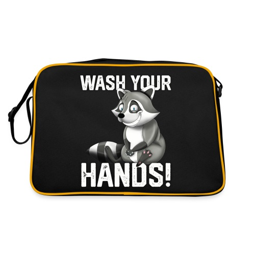 Wash Your Hands | Raccoon Lover | Wash Hand - Borsa retrò