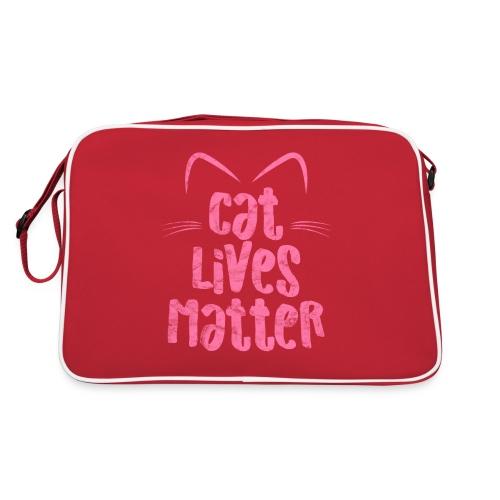 Cat Lives Matter Katzen sind auch wichtig - Retro Tasche