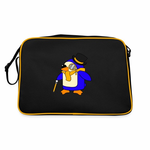 Cute Posh Sunny Yellow Penguin - Retro Bag