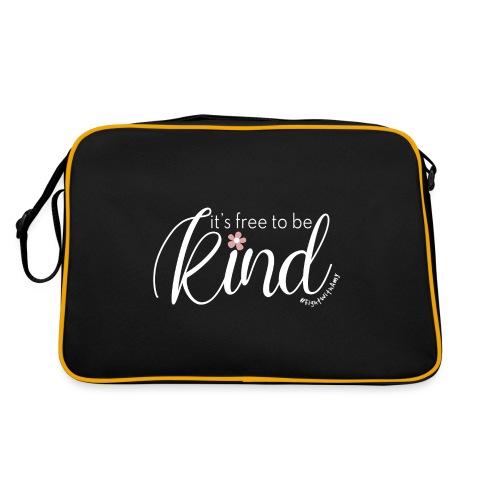 Amy's 'Free to be Kind' design (white txt) - Retro Bag