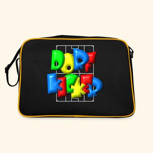 Dorfkicker im Fußballfeld - Balloon-Style - Retro Tasche