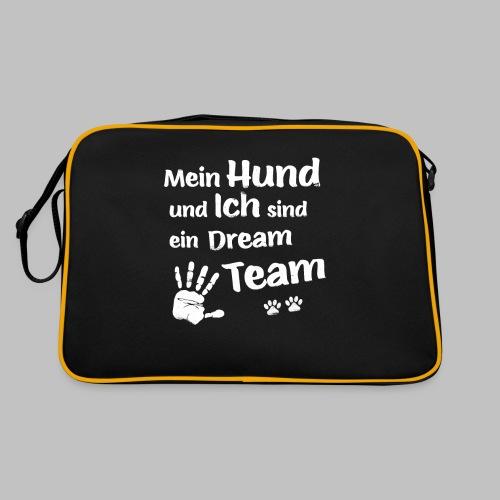 Mein Hund und ich sind ein Dream Team - Hundepfote - Retro Tasche