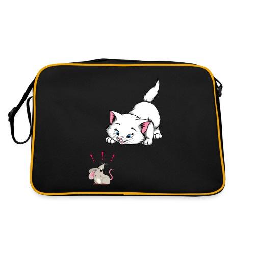 Katze und Maus Achtung Katze - Retro Tasche