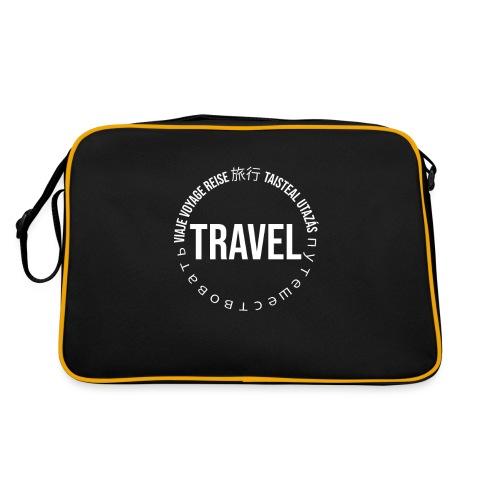 Reisen Weltreise Travelshirt Sprachen - Retro Tasche