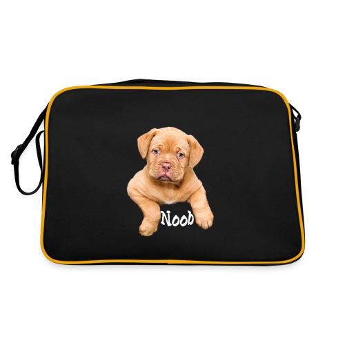 Mops Noob Hunde Spruch - Retro Tasche