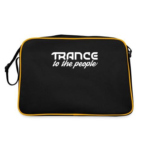 Trance to the People Hvidt Logo - Retro taske