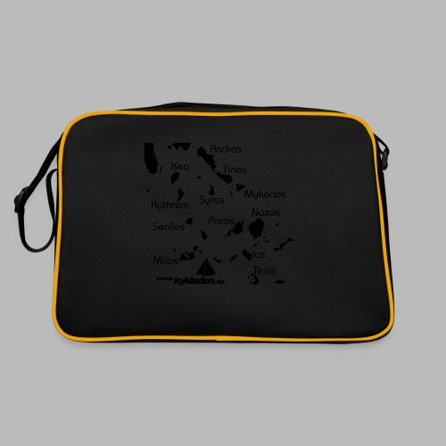 Kykladen Griechenland Crewshirt - Retro Tasche