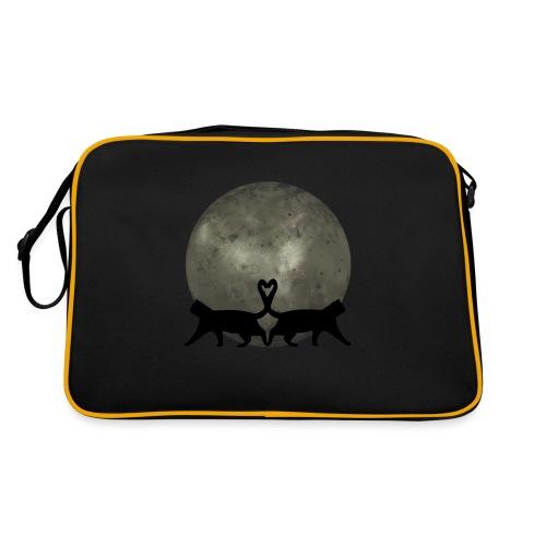 Cats in the moonlight - Retro-tas