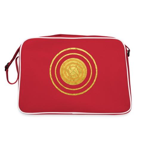 Glückssymbol Sonne - positive Schwingung - Spirale - Retro Tasche