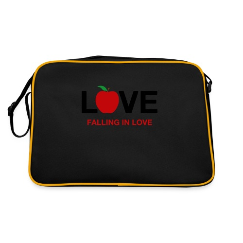 Falling in Love - Black - Retro Bag