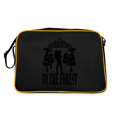I m going to the mountains to the forest - Retro Bag