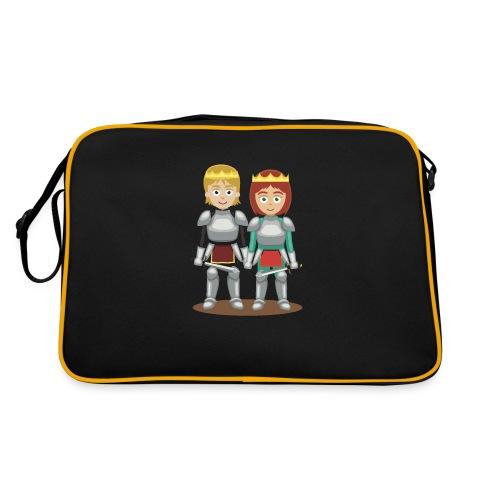 Prinzessin und Prinz mit Schwert - Retro Tasche