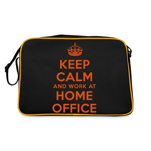 KEEP CALM and work at HOME OFFICE - Retro Tasche