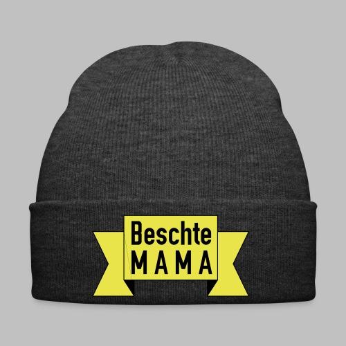 Beschte Mama - Auf Spruchband - Wintermütze