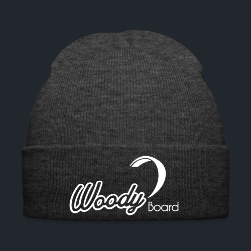 Logo Woodyboard Blanc - Bonnet d'hiver