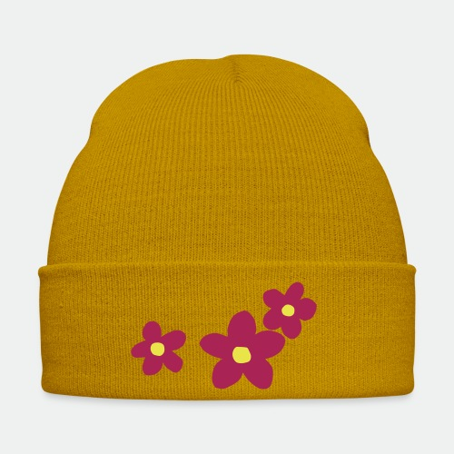 Three Flowers - Winter Hat