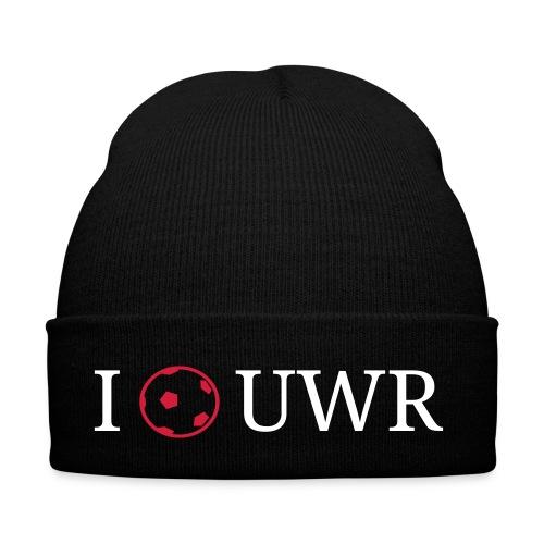 I Love UWR (1 Zeile, Serif, 2Farben) - Wintermütze