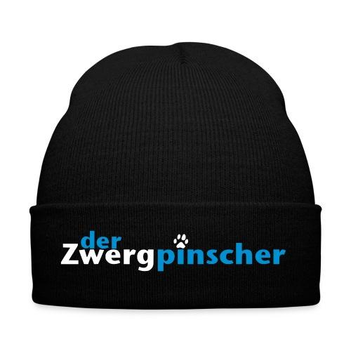 zwergpinscher logo vektor white - Wintermütze