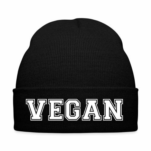 schriftzug vegan - Wintermütze