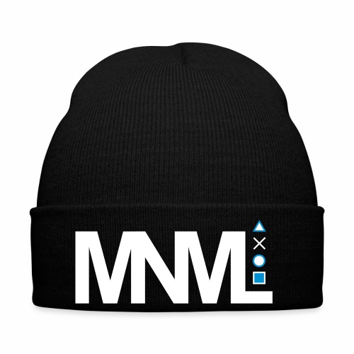 MNML Schrift Symbole Logo minimalistisch Text Icon - Wintermütze