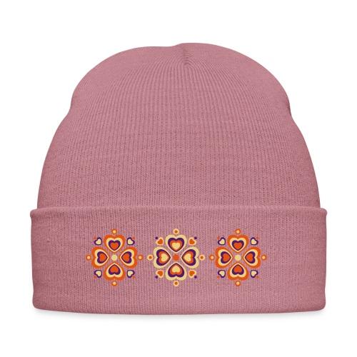 Retro Herzen fröhliche Blumen Vintage Valentinstag - Winter Hat