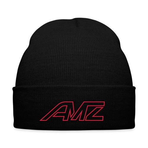 Logo AMZ rot schrift - Wintermütze