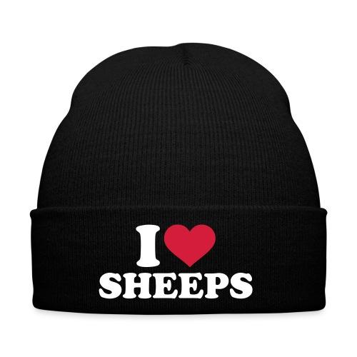 i-love-sheeps-texte - Bonnet d'hiver