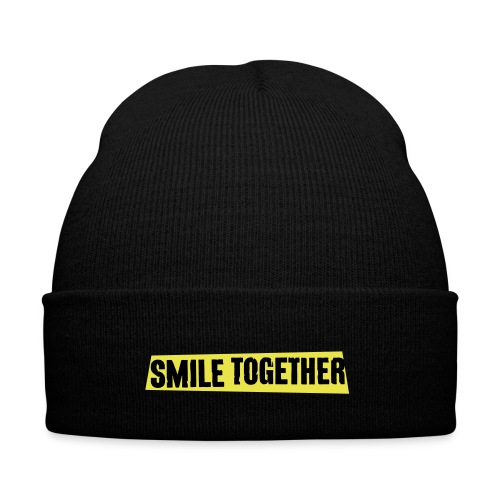Smile Together Black Yellow - Winter Hat