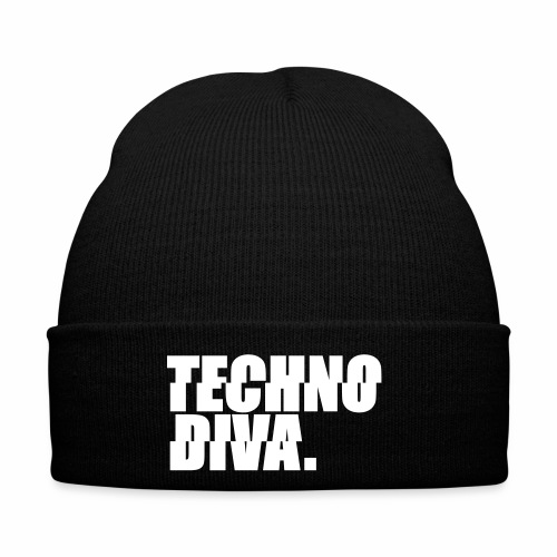 Techno DlVA Rave Princess Hard Techno Kind Music - Wintermütze