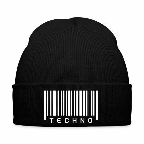 Techno Barcode Strichcode Scan Code Acid Mnml Rave - Wintermütze