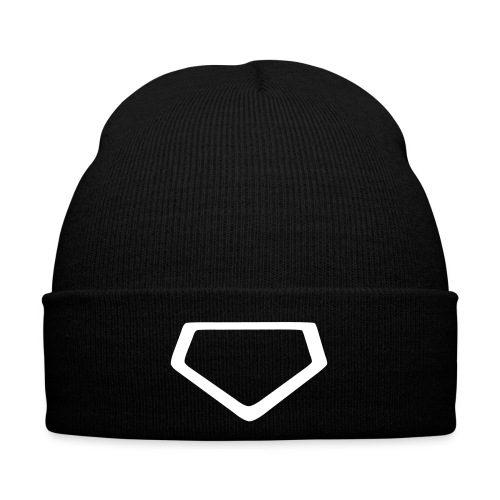 Baseball Homeplate Outline - Winter Hat