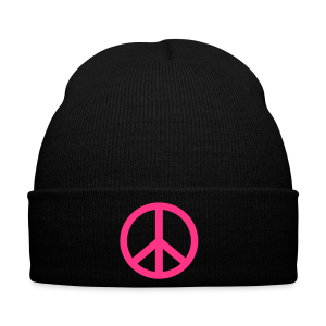 Gay pride peace symbool in roze kleur - Wintermuts