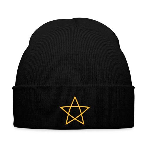 Pentagramm einfarbig - Wintermütze