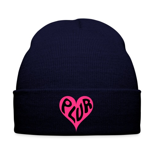 PLUR - Peace Love Unity and Respect love heart - Winter Hat