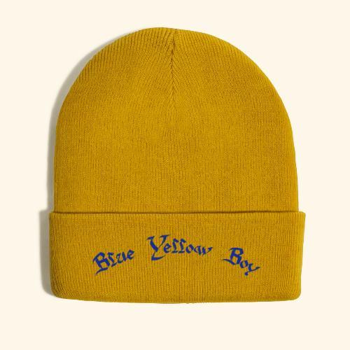 Blue Yellow Boy gebogen - Wintermütze