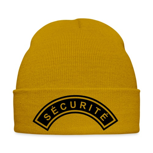 Ecusson Sécurité demilune - Bonnet d'hiver