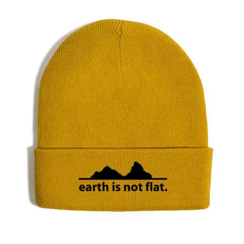 earth is not flat. - Wintermütze