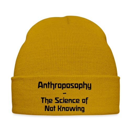 Anthroposophy The Science of Not Knowing - Wintermütze