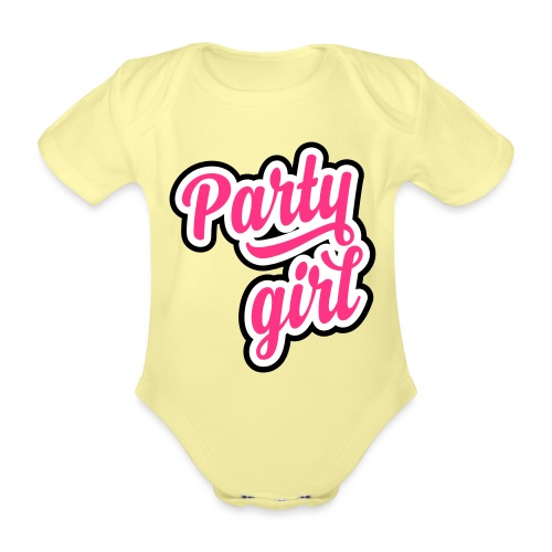 Party Girl - Baby bio-rompertje met korte mouwen