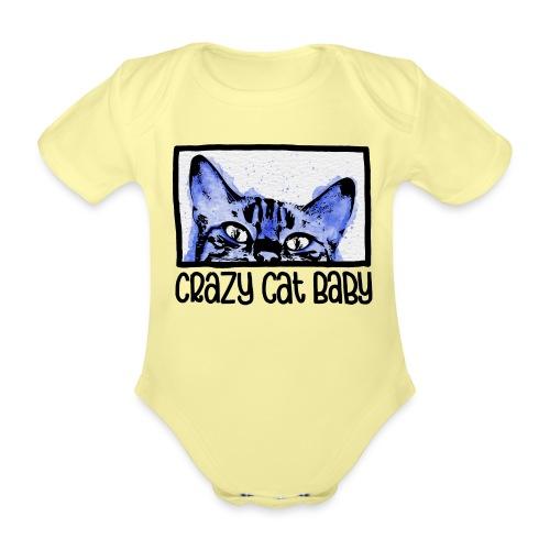 Crazy Cat Baby Boy - Baby Bio-Kurzarm-Body