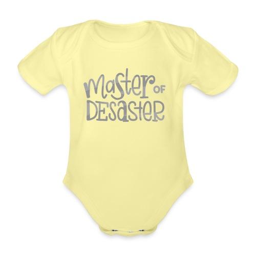 Master of Desaster Schriftzug - Baby Bio-Kurzarm-Body