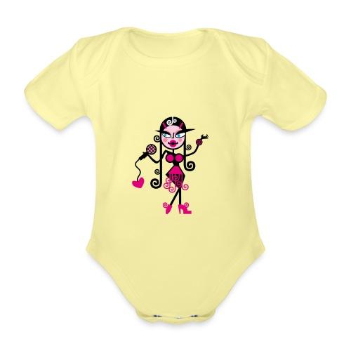 Music 1 - Body ecologico per neonato a manica corta