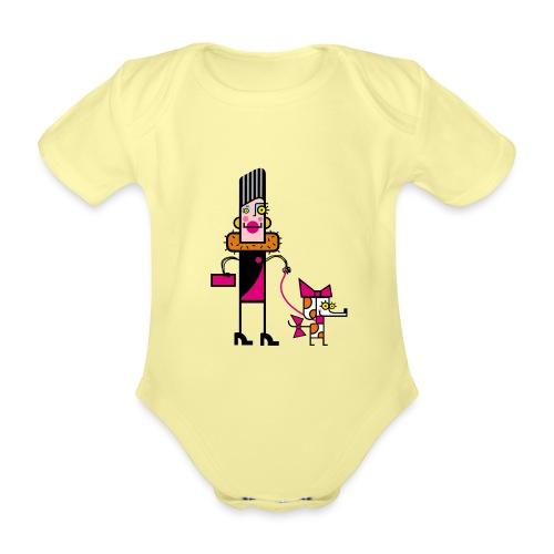 Animal 1 - Body ecologico per neonato a manica corta