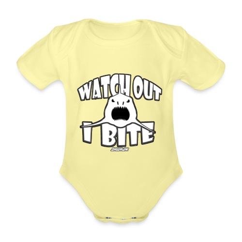 Watch out I bite - Baby bio-rompertje met korte mouwen