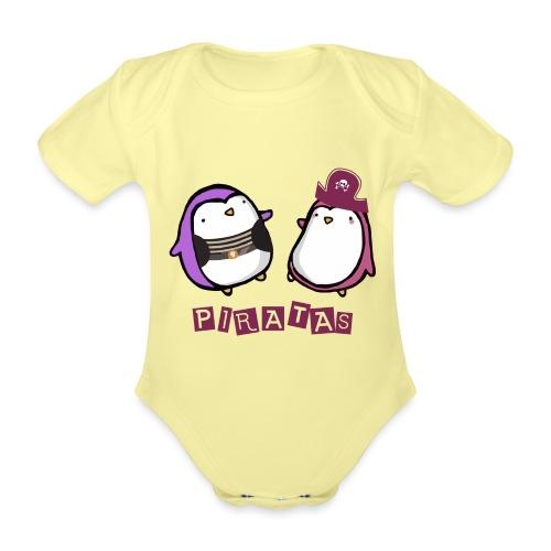 PINGUINOSPIRATAS - Body orgánico de manga corta para bebé