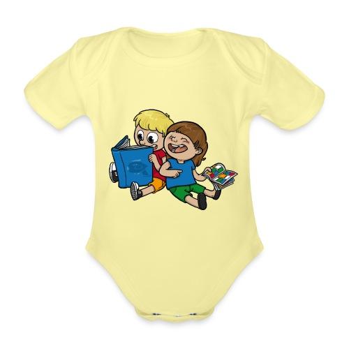 Kinder, lest mehr Bücher und Comics! - Baby Bio-Kurzarm-Body