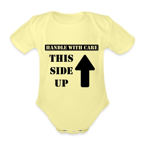 Handle with care / This side up - PrintShirt.at - Baby Bio-Kurzarm-Body