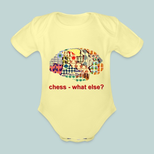chess_what_else - Baby Bio-Kurzarm-Body
