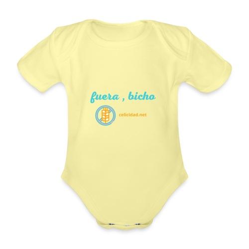 Fuera, bicho - Body orgánico de manga corta para bebé