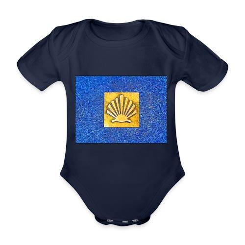 Scallop Shell Camino de Santiago - Organic Short-sleeved Baby Bodysuit